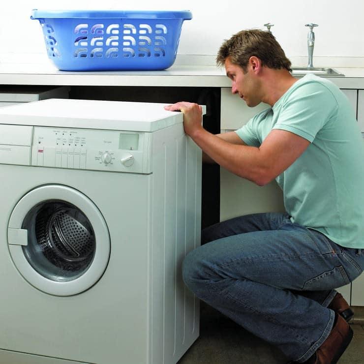 Осмотрите стиральную машину со всех сторон