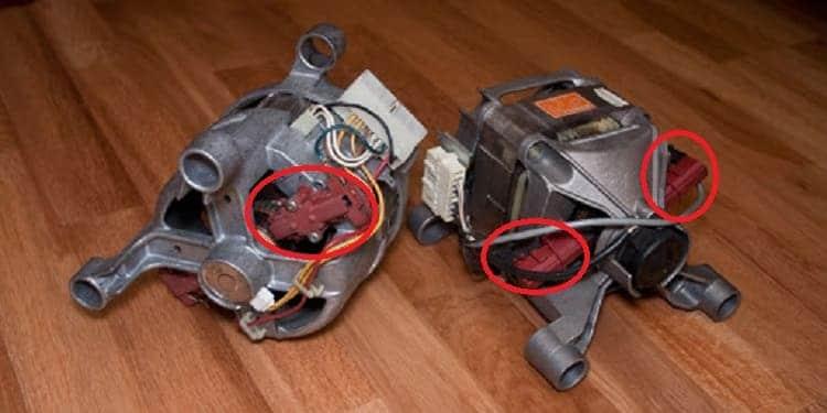 Щетки на электродвигателе